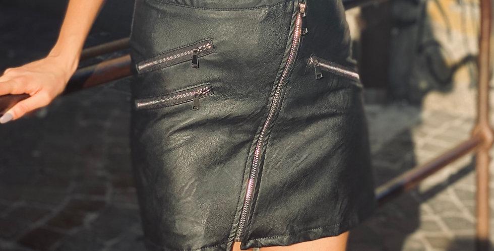 Jupe Imperial simili cuir Black