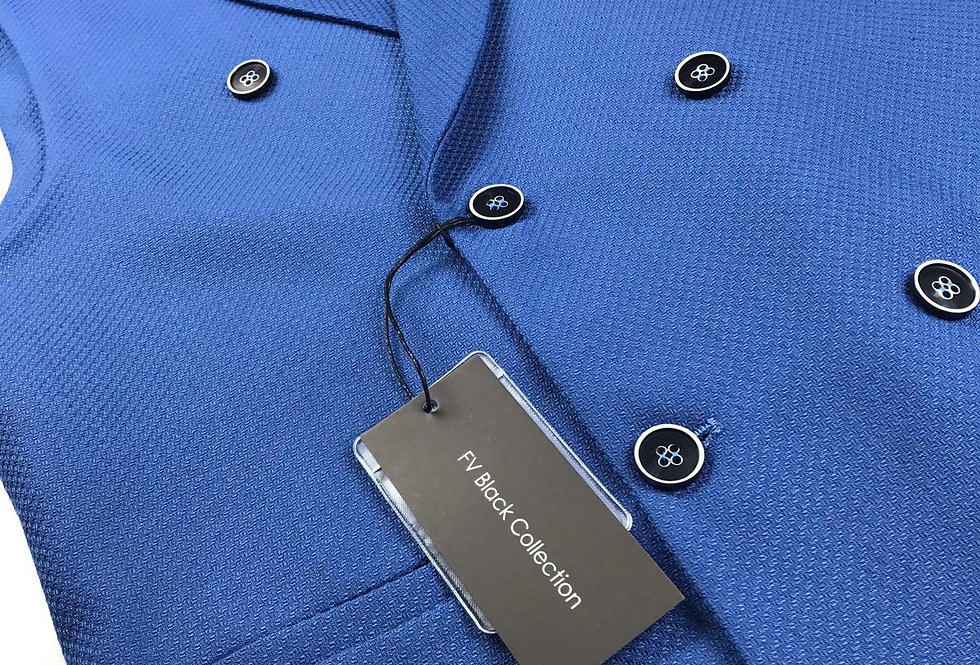 Gilet croisé FV Collection Bleu roi