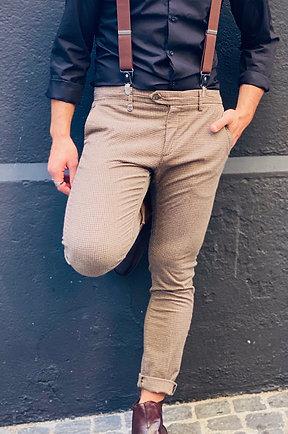 Chino Antony Morato beige à motifs