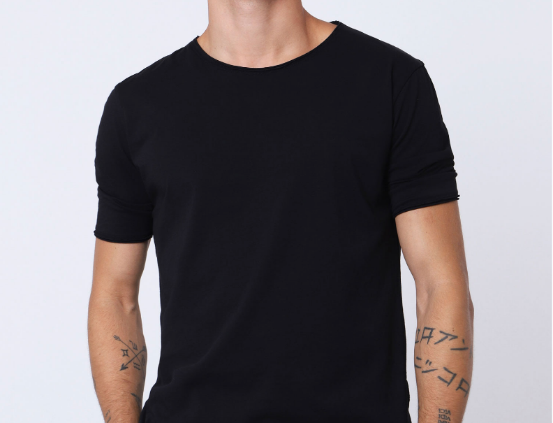 T-shirt long Imperial Black