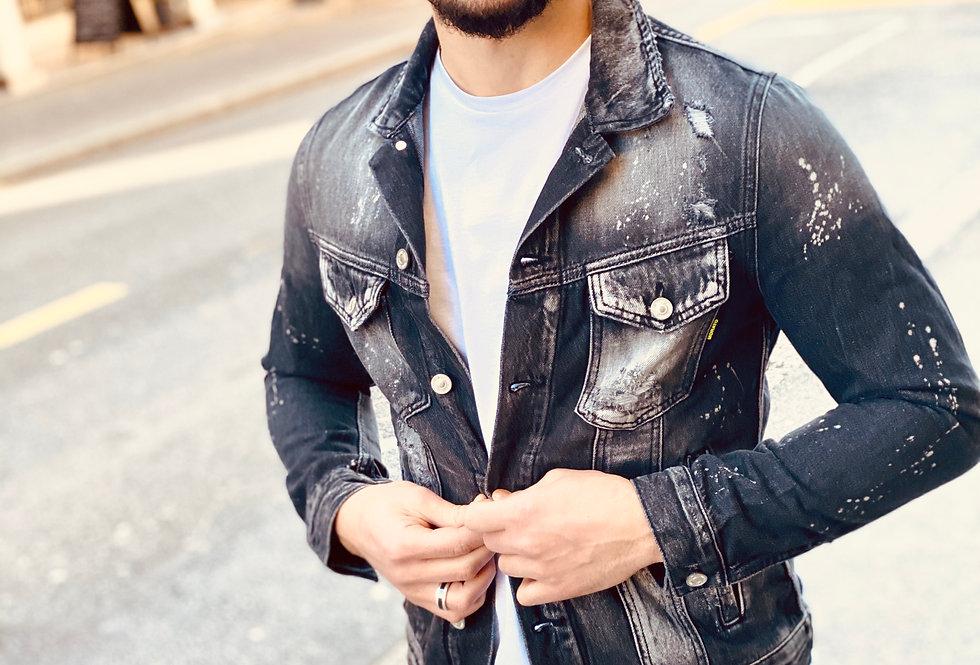 Veste en jeans Gris Anthracite Antony Morato