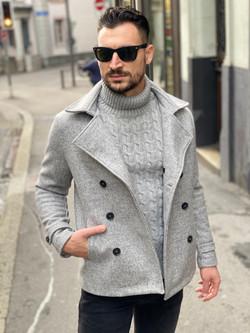 Manteau court gris Imperial Fashion Vicitm Shop