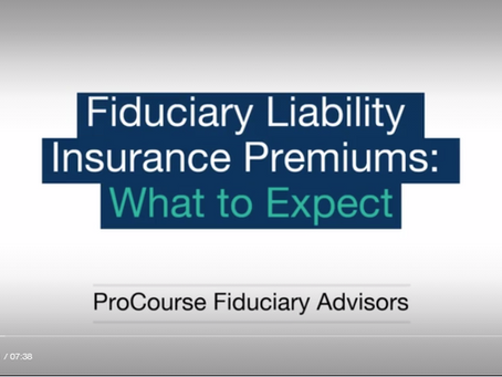 What to Expect: Fiduciary Liability Insurance Premiums