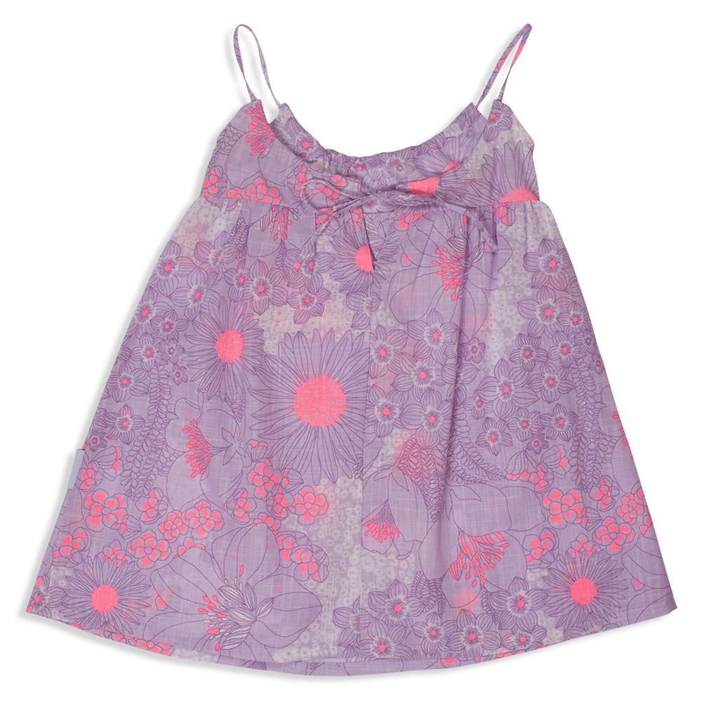 צילום בגדים שמלה סגולה עם פרחים