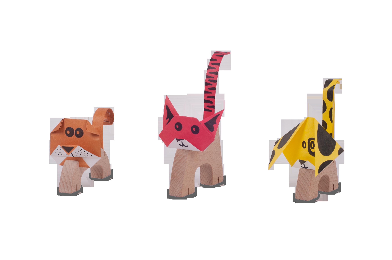 צילום צעצועים - חיות עץ3