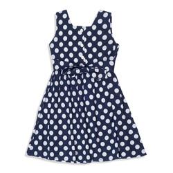 פקשוט בגדים - שמלה כחולה נקודות