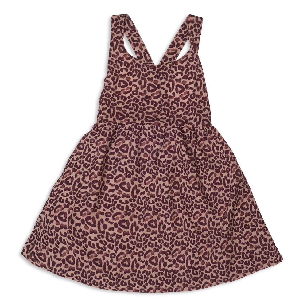 צילום בגדים שמלה מנומרת מקדימה