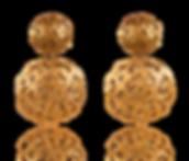 צילום תכשיטים - עגילי וינטג' מזהב