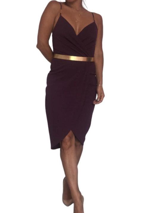 Size 8 Burgundy tulip dress