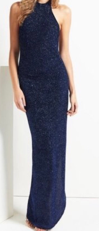 Size 12 Glittery halter maxi dress