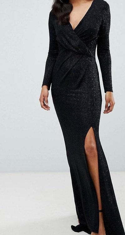 Size 14 wrap sparkly maxi dress