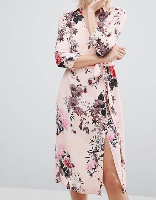 Size 10 Floral kimono wrap dress