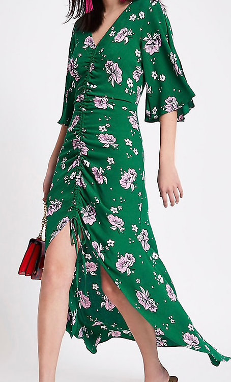 Size 10 Green Floaty floral print dress
