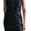 Thumbnail: Size 8 Black Sequin Maxi gown with sheer trail