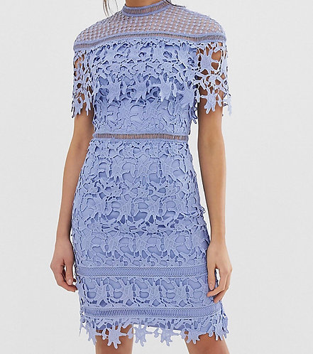 Size 14 blue lace shift dress