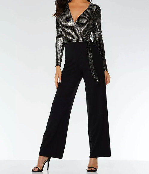 Size 14 black and silver jumpsuit