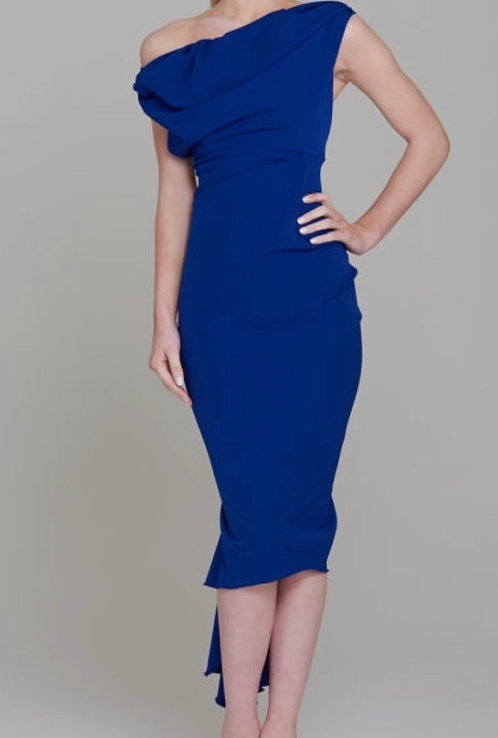 Size 8 Blue Waterfall dress RRP £285