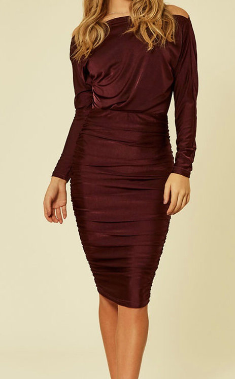 Size 14 long sleeve ruched dress