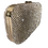 Thumbnail: Silver diamanté box bag with gold trim