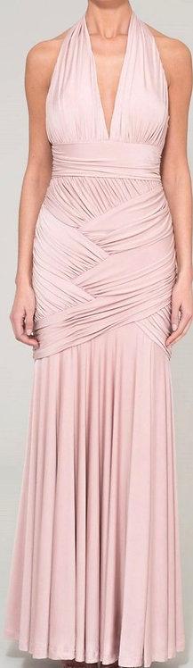 Size 10 Pale pink Goddess Maxi Dress RRP £250