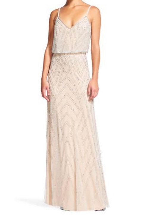 Size 14 Ivory beaded maxi dress RRP £215