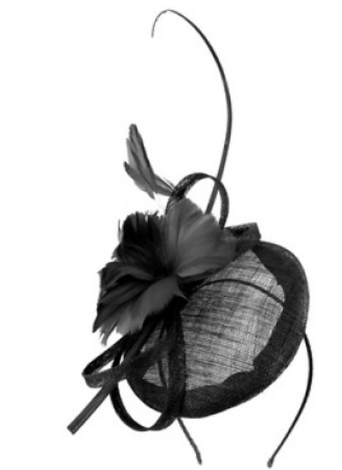 Black fascinator Molly rose small