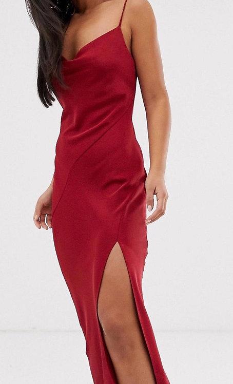 Size 8 Red silk maxi dress