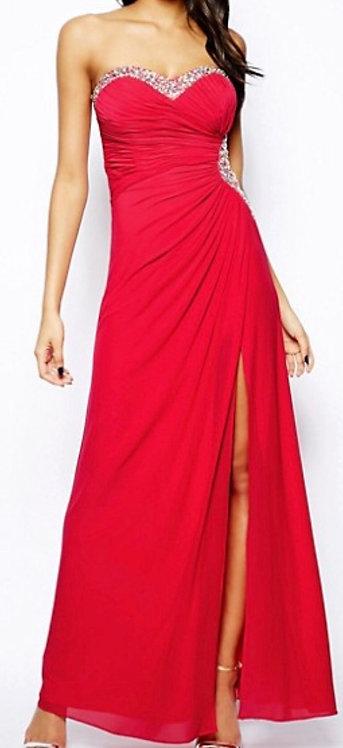 Size 10 Red embellished evening dress