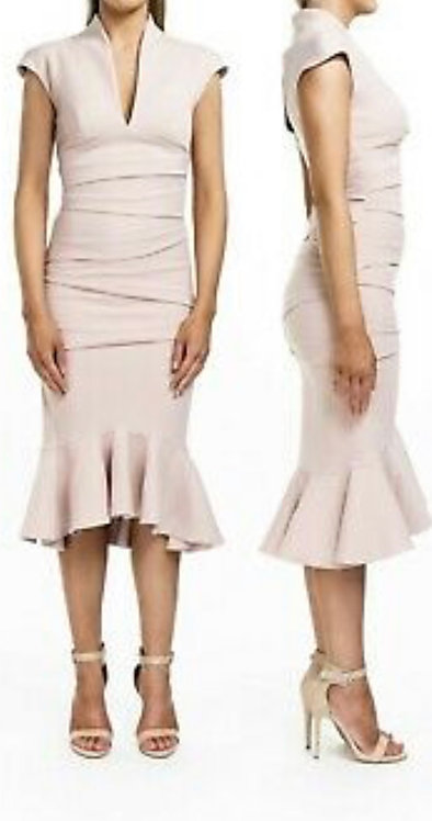 Size 10 Nude structured dress RRP £200