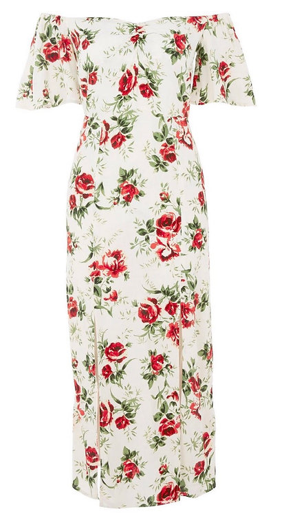 Size 10 floral Bardot dress