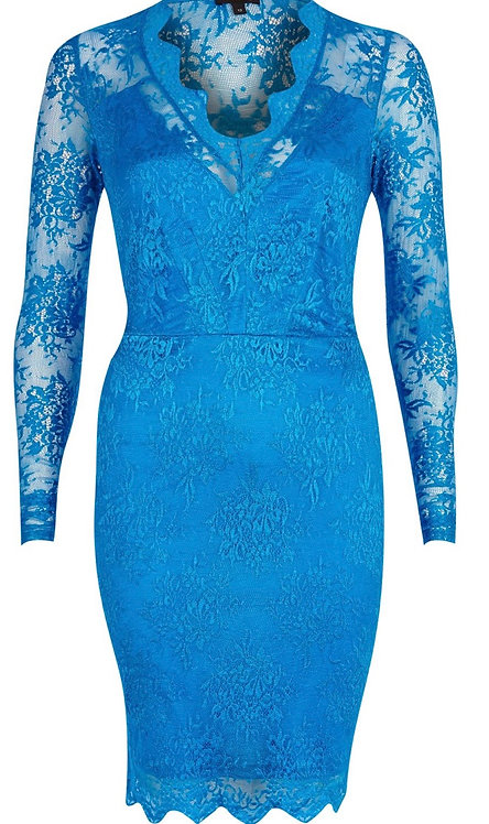 Size 10 Blue Lace Bodycon dress