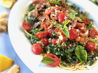 Tomato Basil Marinara over Zucchini Noodles