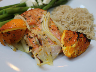 Broiled Salmon with Cara Cara Oranges