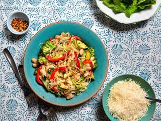 Broccoli, Zucchini & Pepper Pasta