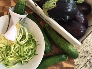 Zucchini Noodles with Eggplant