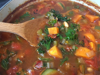 Vegetable Soup with Sweet Potatoes