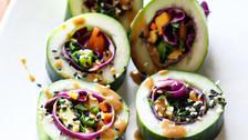 Rainbow Veggie Sushi Rolls
