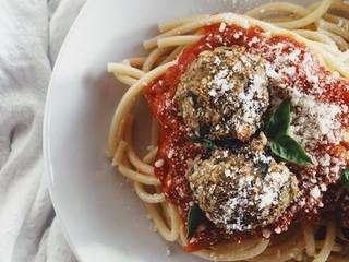 Eggplant Veggie Pasta Balls