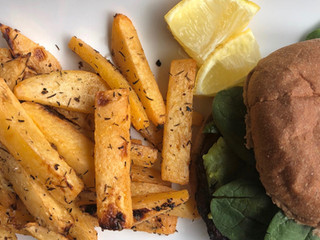 Garlic Rutabaga Oven Fries
