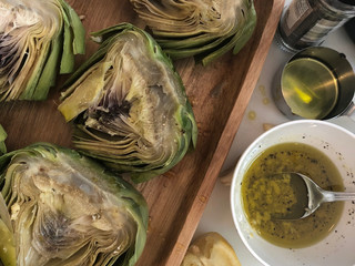 Garlic Grilled Artichokes