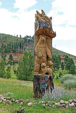 Vallecito Lake fire bear carving