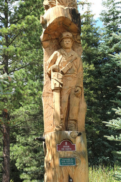 Vallecito Lake fire fireman carving