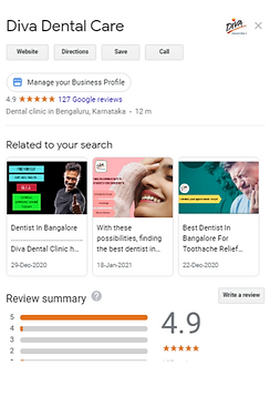 Good reviews Dentist Bangalore