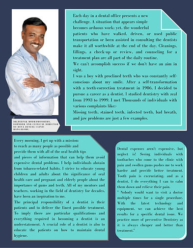 Dr. Deepak Rudramoorthy, Bangalore Dentist