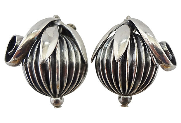 Napier Cumquat Earrings, 1955
