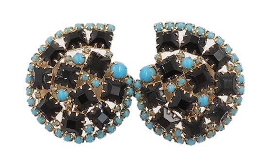 1960s Hattie Carnegie Rhinestone Earrings