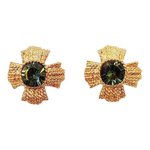 1960s Napier Watermelon Rhinestone Earrings