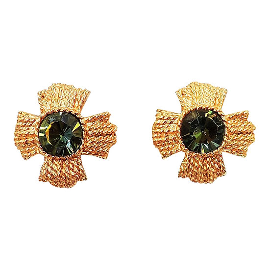 1960s Napier Watermelon Rhinestone Earrings