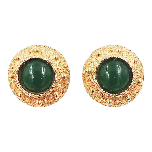 Napier Book Piece Cabochon Earrings, 1971