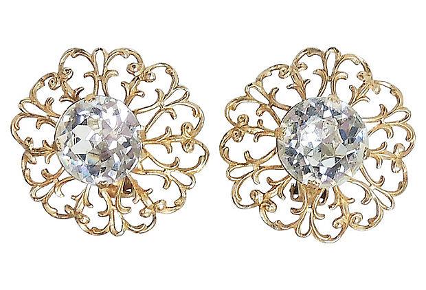 1950s Napier Rhinestone Earrings
